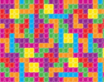 Multi Tetris Fill from Riley Blake Fabrics
