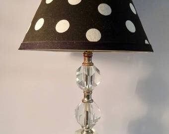 Vintage 1930's Glass table lamp
