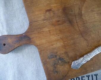 Antique Cutting Board, French Cutting Board, Wood Bread Board, Rectangular Cutting Board, Serving Board, Rustic Kitchen, French Decor