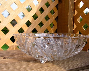 Vintage Clear Footed Bowl