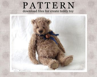 My PATTERN Download to create teddy like Mitya 32 cm 13 inch