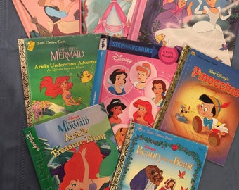 TEN hard cover Children's book covers for crafting - Set 1