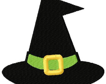 Witches Hat Embroidery Design - Instant Download