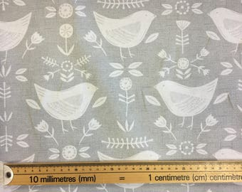 Fryetts Narvik scandi style birds fabric in four colours by the metre