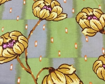 Rowan Fabric Lotus Collection - water lily in brown By The Half Metre