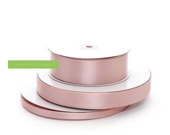 "BLUSH Pink Satin Ribbon | Available in 3/8"", 7/8"", 1.5"" | Silky Blush Pink Wedding and DIY Craft"