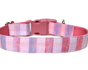 "Pastel Dog Collar 3/4"" or 1"" Spring Dog Collar Watercolor Dog Collar"