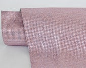 New Light Pink Genuine Leather, Pastel Metallic Leather, Shiny Cowhide