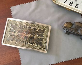 Vintage Filagree Belt Buckle