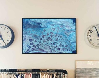 Sea abstract // Acrylic Painting// Original Handmade // Signed // wall ready //  wall art // modern art // anniversary present
