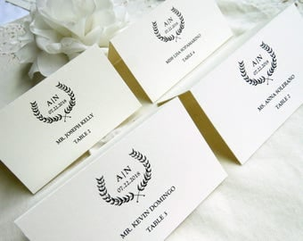 Wedding Name Cards |  Instant Download PDF - Printable Wedding Name Cards  |  Place Cards  | Escort Cards  |  Branches Collection Style 04