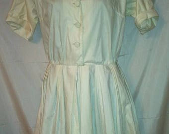 SPRING CLEARANCE SALE 60s Vintage Shirtwaist Day Dress-Tranell Dallas-Southwestern Rockabilly Country Western Preppy Schoolgirl-Size 2-Small