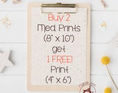 Buy 2 Medium Prints get 1 Free! (Small size Print) - Nursery Decor Wall Art, Baby Decor Wall Art, Whimsical Wall Art