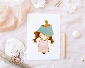 Chinañekita - Limited Edition - Nursery decor - baby decor - cute little girl - by Majeak Ann