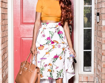 African Skirt - Ivie High Low skirt