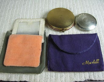 2 Vtg compacts with odd compact cases