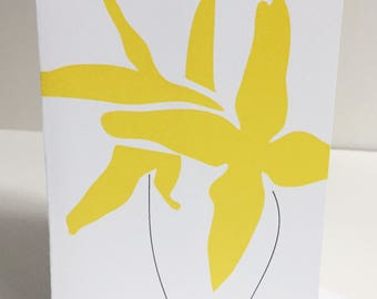 Yellow Flower - Single Card