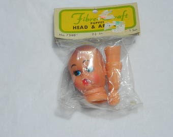 Vintage Rubber Doll Face And Arms