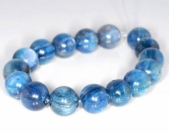 12mm Blue Kyanite Gemstone Blue Round Loose Beads 16 Beads (90147985-346)