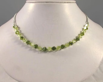 Khaki & Jonquil Swarovski Crystal Necklace - N200