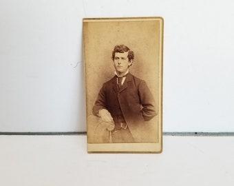 Antique Photograph Young Man Gentleman Carte de Visite CDV