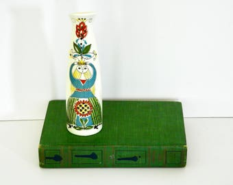 Figgjo Flint Saga Folk Art Bottle- Norske Design