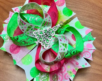 Christmas tree bow with bright colors
