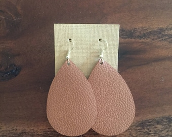 Caramel Leather Earrings
