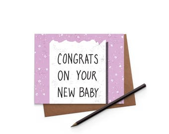Congrats - Baby Receipt Card - New Baby - Funny Card - Greeting Card - Digitally Printed A2 Cards w/ envelope