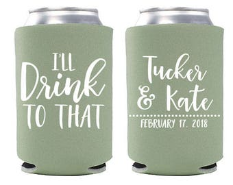 Wedding Koozies Etsy