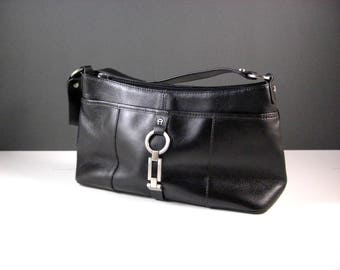 Etienne Aigner Black Leather Handbag Purse