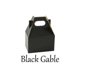 Boxes ,  Black Take Out Boxes & Containers , Black Gable Boxes , Barn Boxes , Mini Gable Boxes , Favors, gifts,