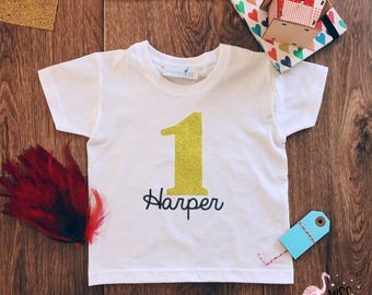 First Birthday Shirt, 1st Birthday Shirt, First Birthday Outfit, Girl Birthday Outfit, Custom Birthday Shirts,One Birthday Shirt,Gold Sequin