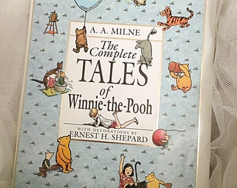 Vintage Winnie the Pooh book,  The Complete Tales of Winnie the Pooh by A.A Milne