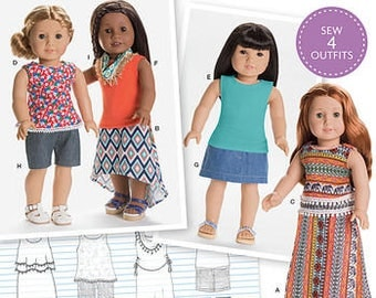 Simplicity 8040-0170--18 Inch Doll Clothing Pattern --New Uncut-