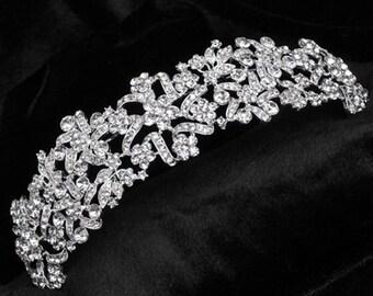Bridal Tiara Crystal, Swarovski Bridal Tiara, Crystal Wedding Crown, Rhinestone Tiara, Wedding Tiara, wedding hair accessories