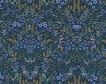 PRESALE - Menagerie - Tapestry in Navy - Anna Bond for Cotton + Steel - 8031-01 - 1/2 Yard