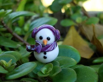 Mini snowman- Christmas winter fairy garden