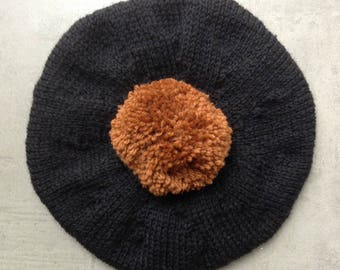 Children's Hat, Beret, Children's Knitted clothes, Tam, UK Seller, Pure Wool, Hand Knitted