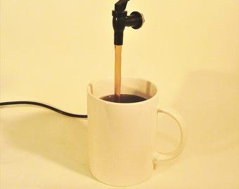 Giant Coffee Mug Fountain - Off White