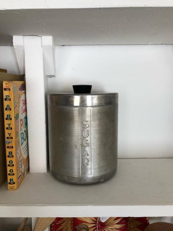 Vintage Aluminum Sugar Canister