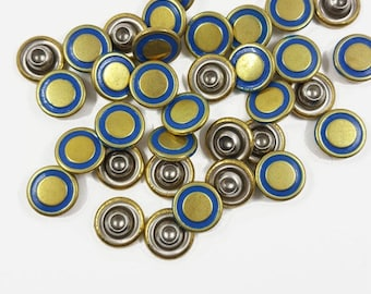 30 PCS Metal Compression Rivets, Rapid Studs, Accessories Leather crafts,Purse & Bag Making Supplies