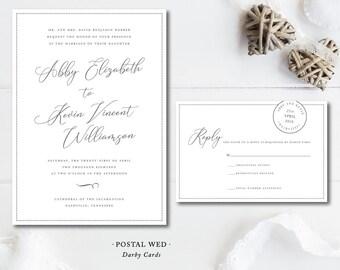 Postal Wed Invitations