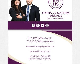 BHHS real estate business cards - thick, color both sides - FREE UPS ground shipping