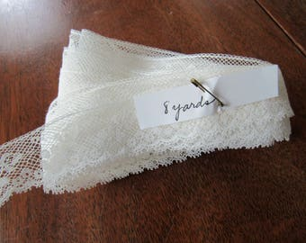 French Val Lace,  White