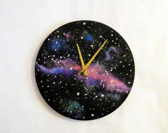 Large Space Wall Clock,  Nebula Clocks, Home and Living, Home Decor