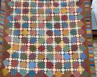 Queen or King Size Thimbleberries Autumn Colors Hand Made Quilt