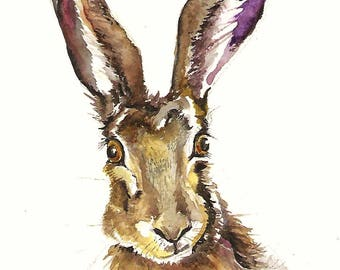 Hare Painting - watercolor original