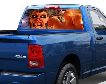 Eddie Iron Maiden Rear Window Decal Sticker Pickup Truck SUV Car 12