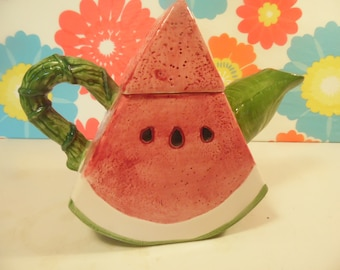 1990s Watermelon Teapot - Cardinal Inc - Pick Of The Crop - Novelty Teapot